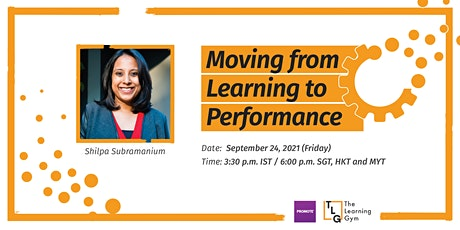 Webinar: Moving from Learning to Performance tickets