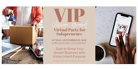 VIP  Vision Board Party for Solopreneurs - Virtual Event tickets