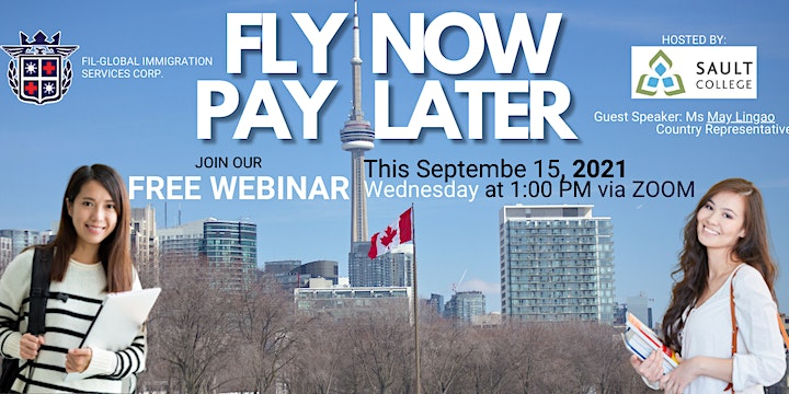 Free Webinar for FLY NOW PAY LATER Program For Sault College Canada image