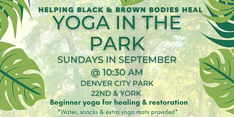 Yoga in the Park: End of Summer Sessions tickets