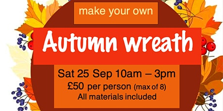 Make your own Autumn wreath tickets