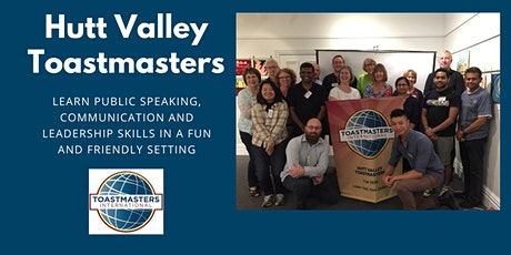 Hutt Valley Toastmasters weekly meeting tickets