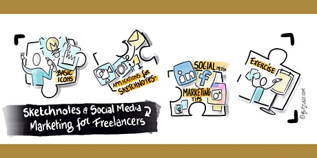 Sketchnotes and social media marketing for freelancers ONLINE Tickets