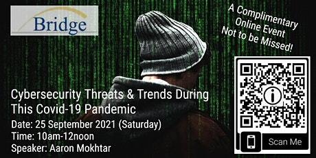 Cybersecurity Threats & Trends During This Covid-19 Pandemic tickets