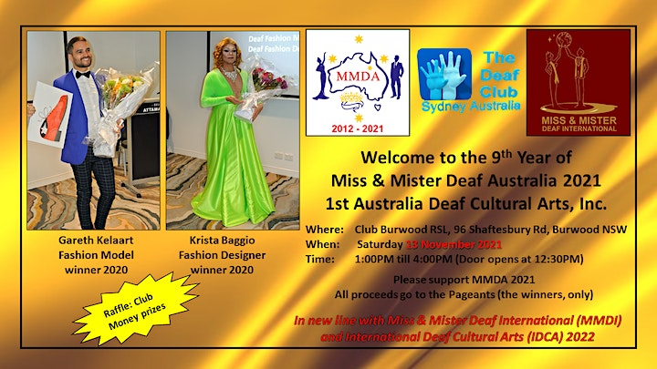 Welcome to the 9th Year of Miss & Mister Deaf Australia 2021 image