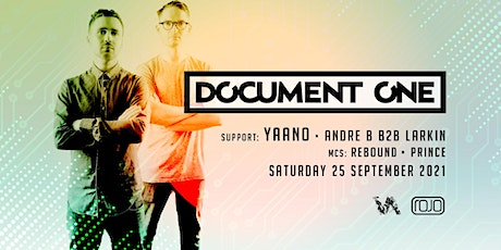 Vanguard present Document One (Debut Rojo Show) support YAANO + More tickets