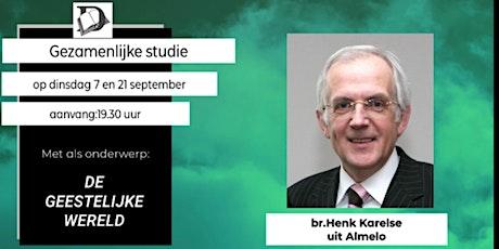 Gezamenlijke Studie op dinsdag 21 september tickets