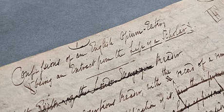 Thomas De Quincey: The Opium-Eater's Confessions 200 Years On tickets