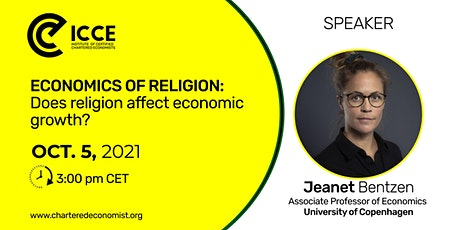 ICCE Webinar: Economics of Religion - Does religion affect economic growth? tickets