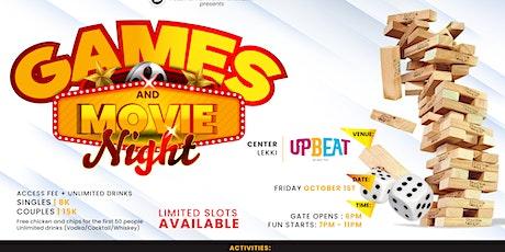 GAMES & MOVIE NIGHT tickets