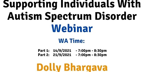 WA Time Supporting individuals with Autism Spectrum Disorder tickets