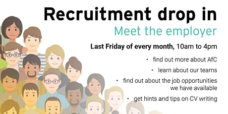 Recruitment drop-in tickets
