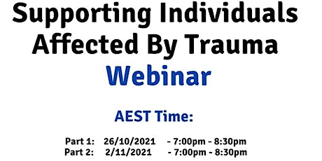 AEST Supporting individuals affected by trauma tickets