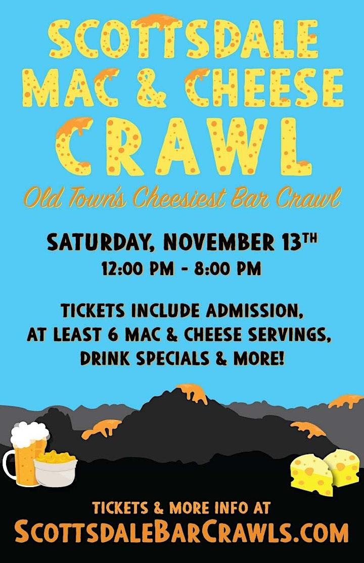 Scottsdale Mac & Cheese Crawl - Old Town's Cheesiest Bar Crawl! image