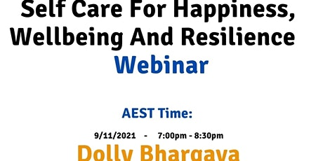 AEST Self care for happiness, wellbeing and resilience tickets