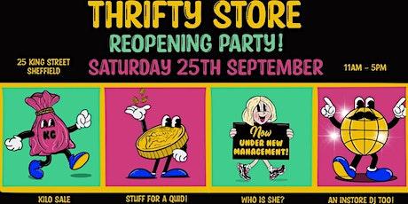 Thrifty Store's Famous £1 SALE X KILO SALE tickets