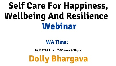 WA Time Self care for happiness, wellbeing and resilience tickets