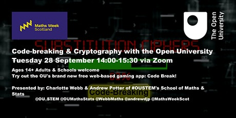 Maths Week Scotland 2021: Codebreaking & Cryptography  with The Open Uni tickets