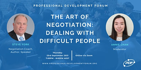 The Art Of Negotiation: Dealing With Difficult People tickets