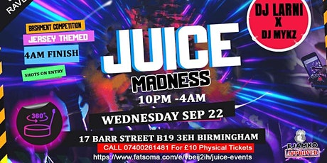 Juice Events tickets