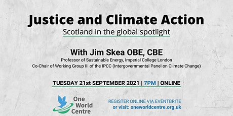 Justice and climate action: Scotland in the global spotlight tickets