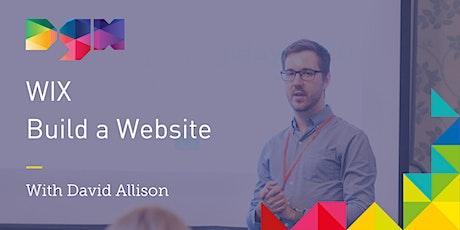 How to Build Websites With Wix.com Website Builder - Webinar tickets
