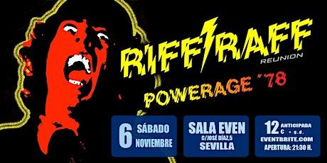 RIFF / RAFF  Especial Powerage entradas