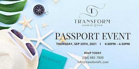 Transform Aesthetic Center's Passport Event tickets