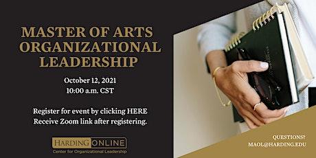 Master of Arts in Organizational Leadership - Harding Alumni Event tickets