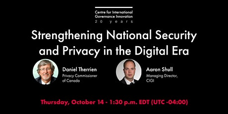 Strengthening National Security and Privacy in the Digital Era tickets
