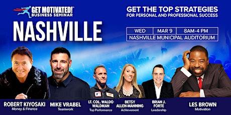 Get Motivated! Nashville with Robert Kiyosaki, Les Brown, Mike Vrabel tickets