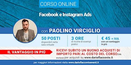 Corso su Facebook e Instagram Ads tickets