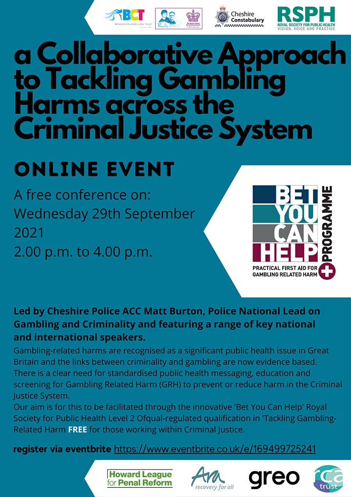 Tackling Gambling Harms across the Criminal Justice System. image