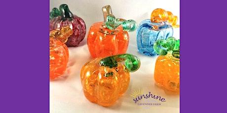 Pumpkin Glass Blowing Workshop at Sunshine Lavender Farm tickets