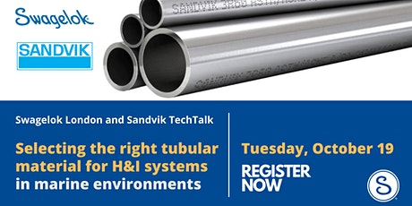 Selecting the right tubular material for H&I systems in marine environments tickets