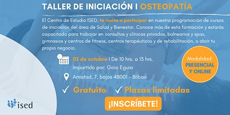 Taller de Iniciación de Osteopatía Octubre entradas