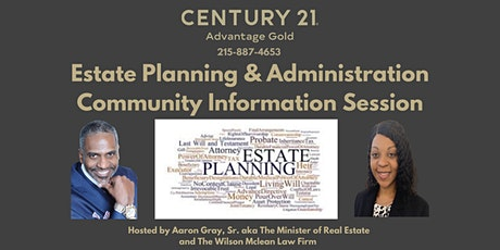 Estate Planning & Administration: How to properly administer an estate. tickets