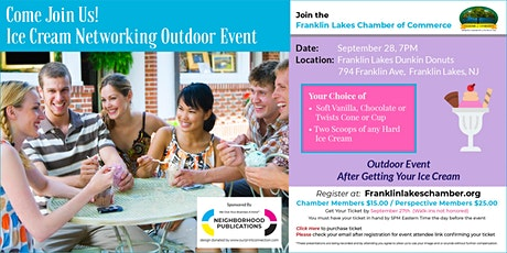 Networking Outdoors with Ice Cream at Dunkin Donuts (Franklin Lakes) tickets