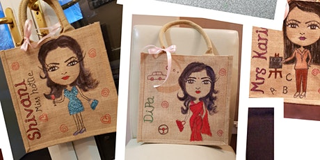 Sip and Paint your own jute bag tickets