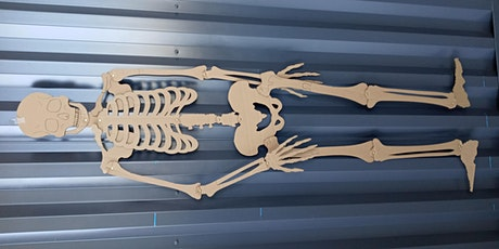 Halloween SKELETONS with the laser cutters in the Fab Lab tickets