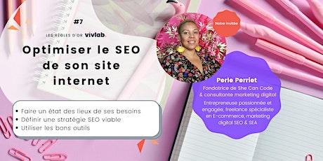 Atelier en ligne - Optimiser le SEO de son site internet billets