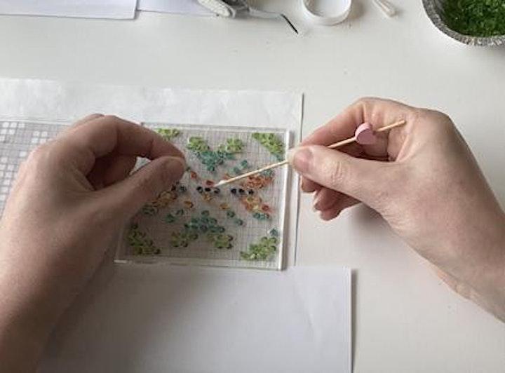Fair Isle inspired fused glass hanging Workshop  Shetland Wool Week image