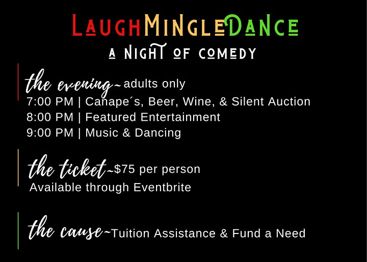 LaughMingleDance, A Night of Comedy and Community. image