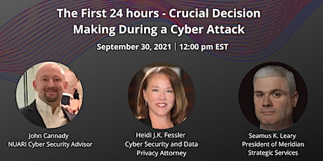 The First 24 Hours Crucial Decision Making During a Cyber Attack tickets