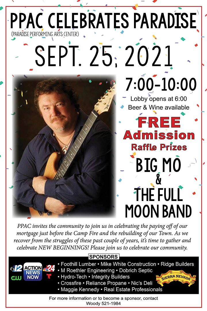 PPAC Celebrates Paradise Free Show with Big Mo and The Full Moon Band image