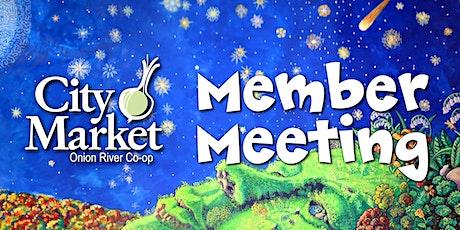 City Market Member Meeting 2021 biglietti