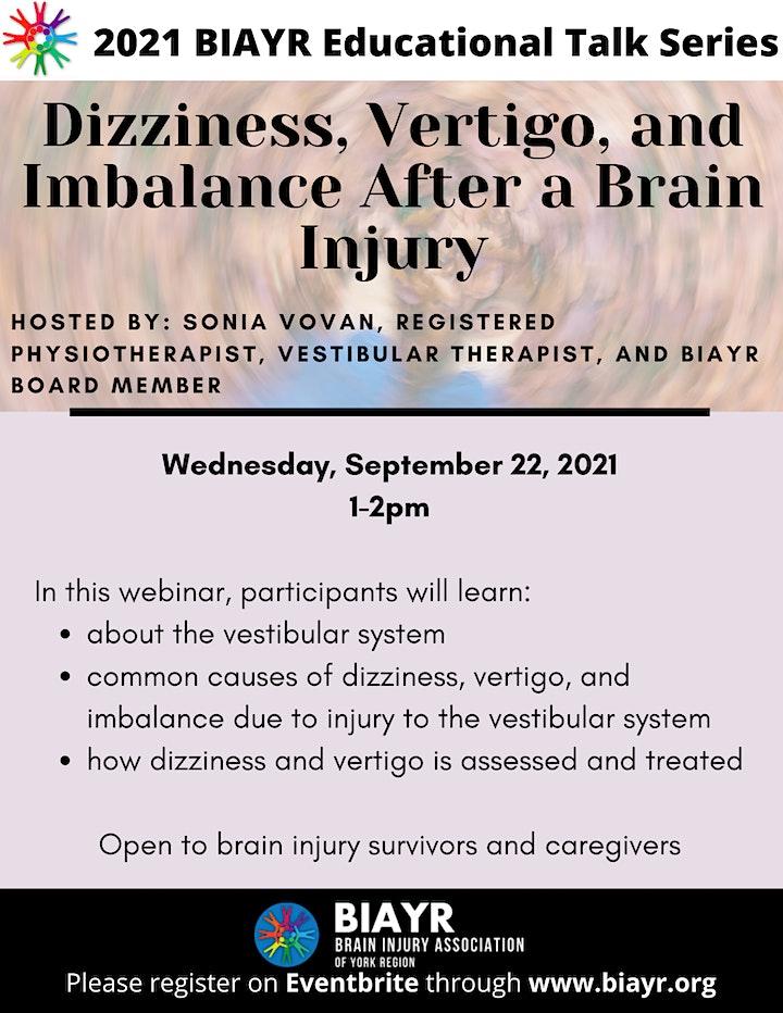 Dizziness, Vertigo, and Imbalance - 2021 BIAYR Educational Talk Series image