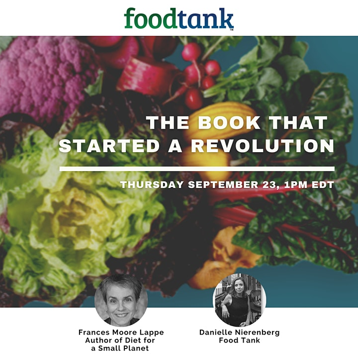 The Book that Started a Food Revolution. Interview with Frances Moore Lappe image