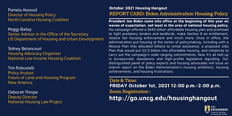 Oct Housing Hangout  - Report Card on Housing Policy tickets