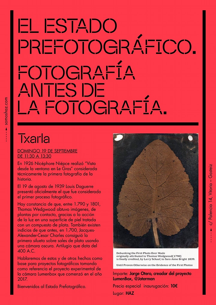 Imagen de 'El Estado Prefotográfico'. Txarla.